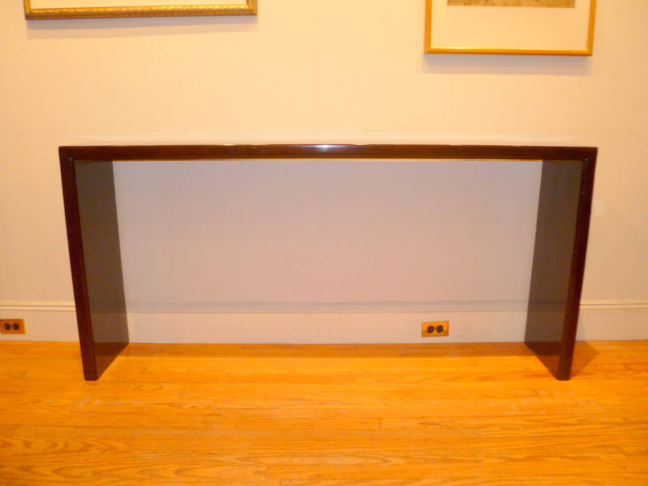 Simple and Elegant Ju Mu Wood Console Table at 1stdibs