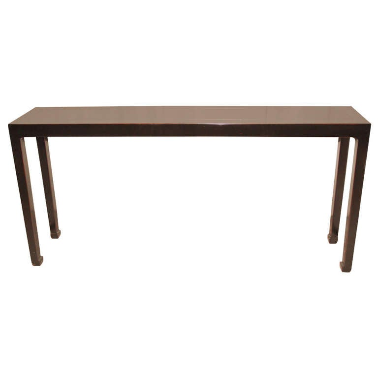 Fine Furniture Foyer Tables : Fine black lacquer console table at stdibs