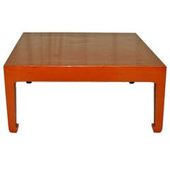 Fine Square Red Lacquer Low Table