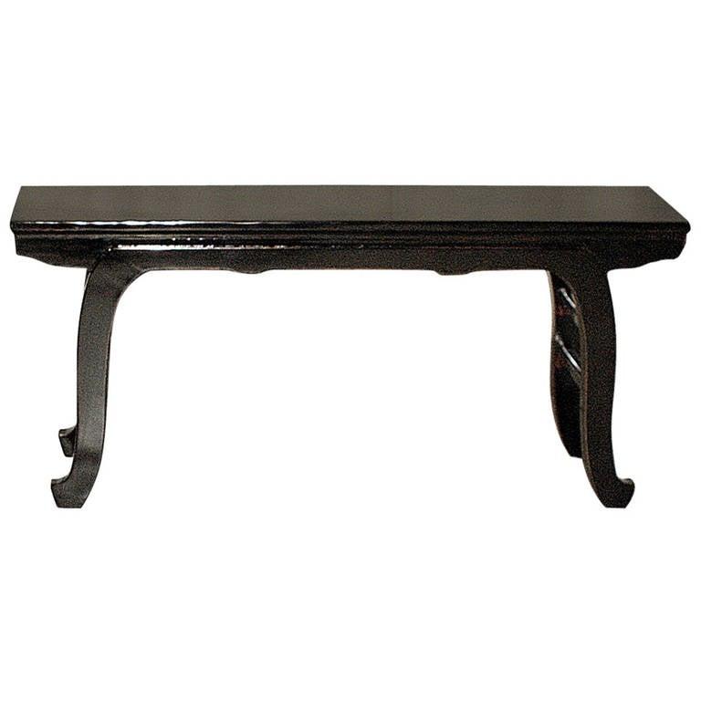 Tremendous Fine Black Lacquer Bench At 1Stdibs Creativecarmelina Interior Chair Design Creativecarmelinacom