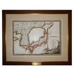 Framed Rare Map of Japan and Korea
