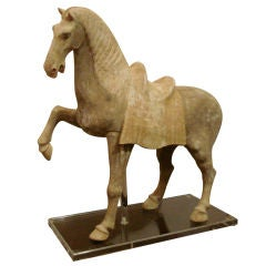 Pottery Statue Of Prancing Horse, Tang Dynasty, Oxford TL tested