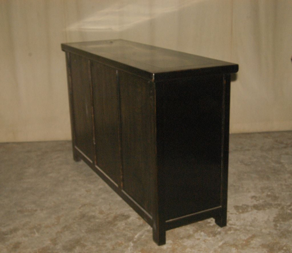 Fine black lacquer sideboard with gold gilt motif at 1stdibs for Sideboard gold