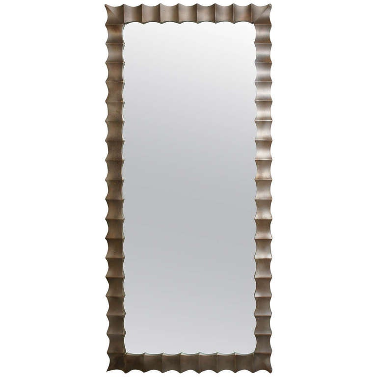 Decorative silver mirror 50 sale at 1stdibs for Decorative floor length mirrors