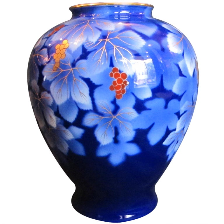 Japanese Fukagawa Vase At 1stdibs