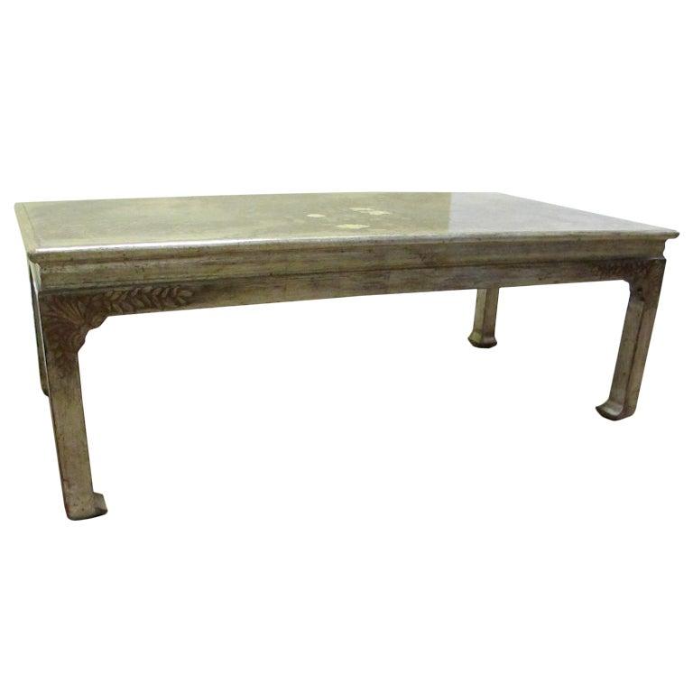 max kuehne silver leaf table at 1stdibs. Black Bedroom Furniture Sets. Home Design Ideas