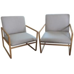 Pair of Ward Bennett Chairs
