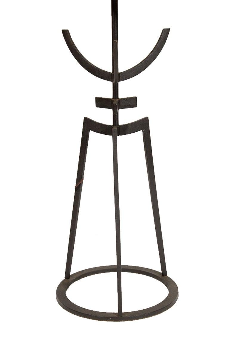sculptural 1950 u0026 39 s iron table lamp at 1stdibs