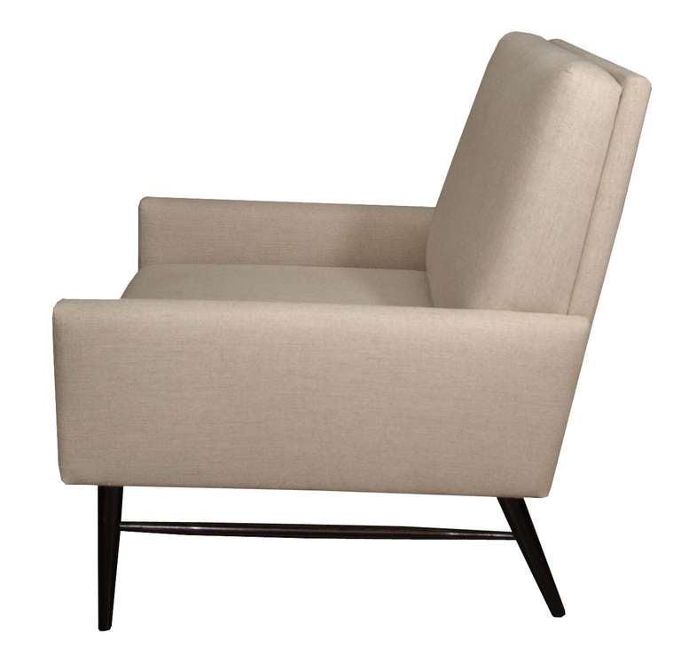 Paul Mccobb Dowel Leg Upholstered Armchair At 1stdibs