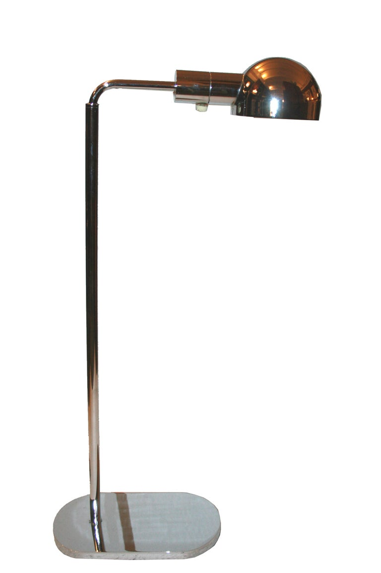 1970 39 s adjustable swing arm floor lamp by casella at 1stdibs for 1970s floor lamps