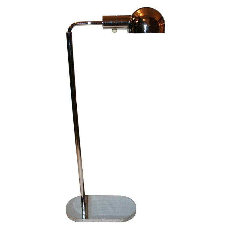 1970 39 s adjustable swing arm floor lamp by casella at 1stdibs. Black Bedroom Furniture Sets. Home Design Ideas