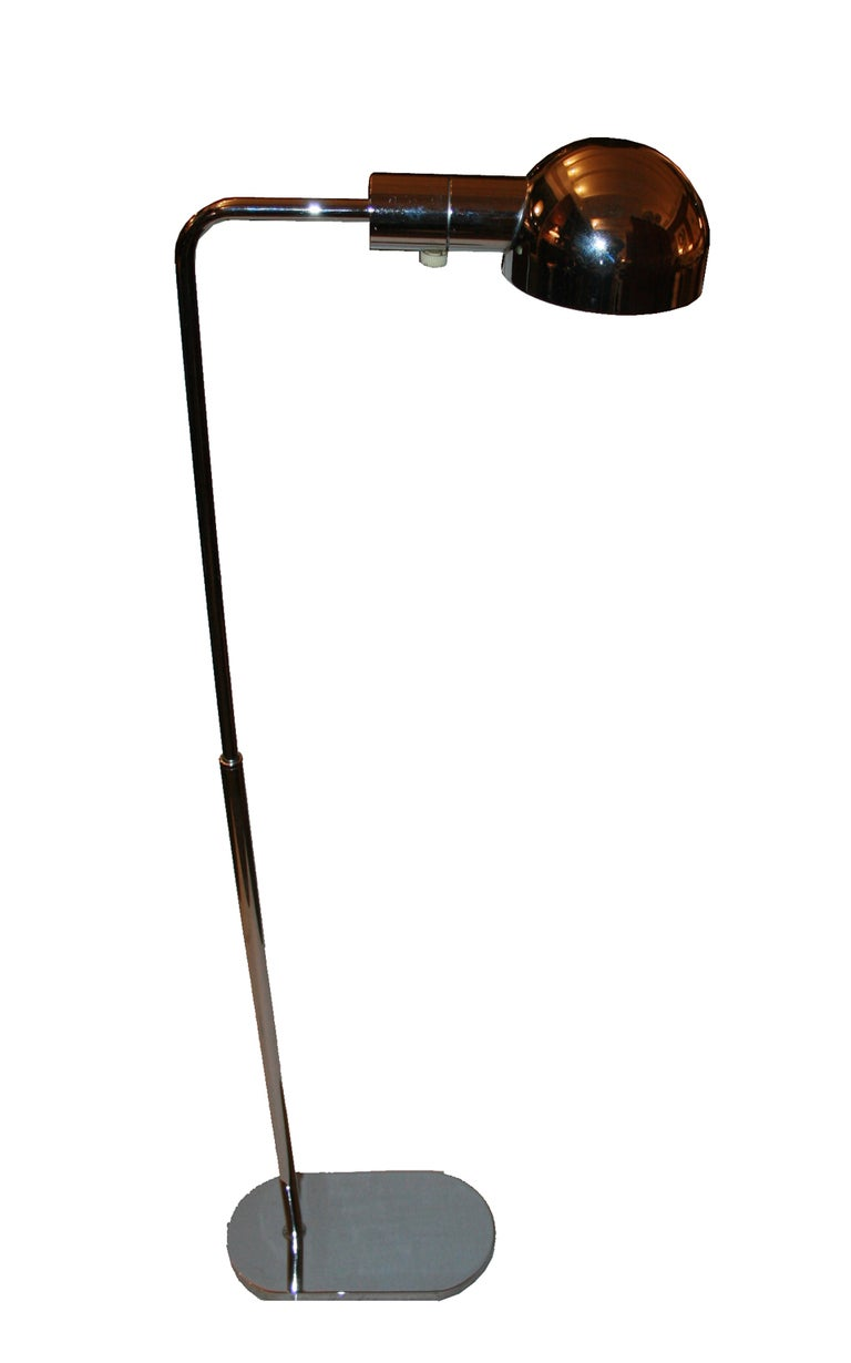 1970 39 s adjustable swing arm floor lamp by casella at 1stdibs. Black Bedroom Furniture Sets. Home Design Ideas