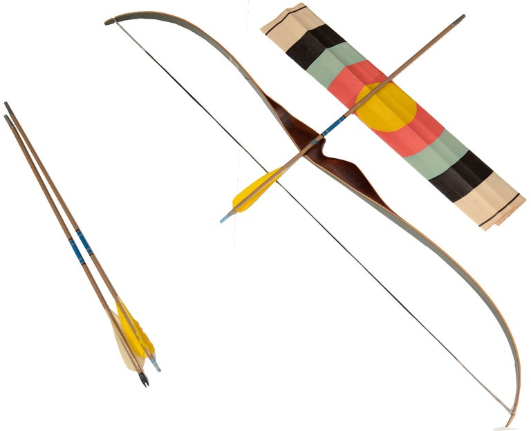 Vintage Little Bear Recurve Rosewood Bow and Arrow Set 6