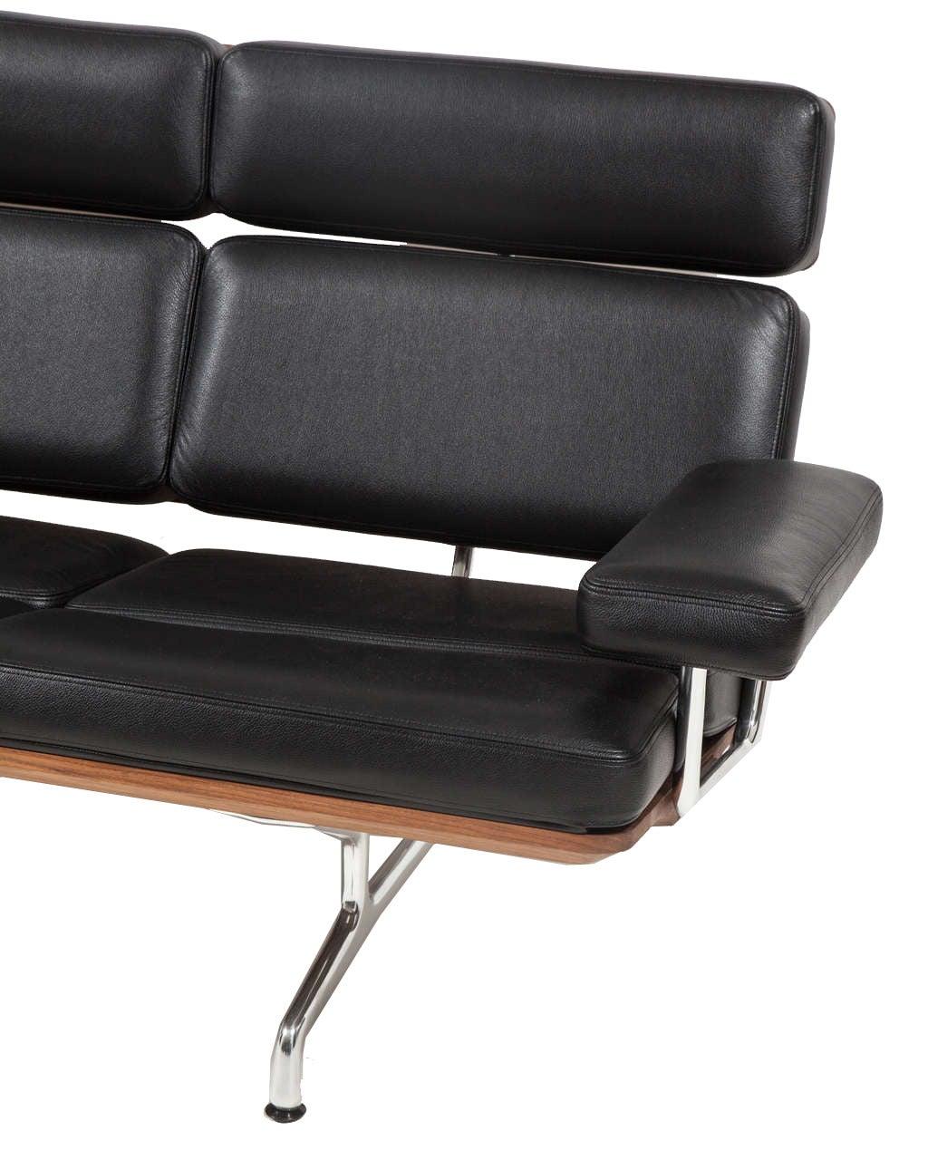 charles eames for herman miller three seat sofa at 1stdibs. Black Bedroom Furniture Sets. Home Design Ideas