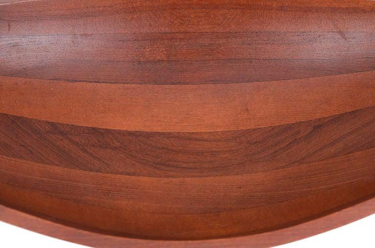 Mid-Century Modern Jens Quistgaard Solid Teak Staved Bowl For Sale