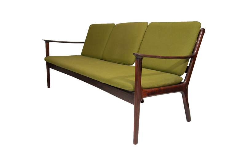 Mid-Century Modern Ole Wanscher Rosewood Sofa and Chair Set For Sale