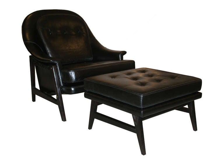 Edward Wormley For Dunbar Janus Line Lounge Chair