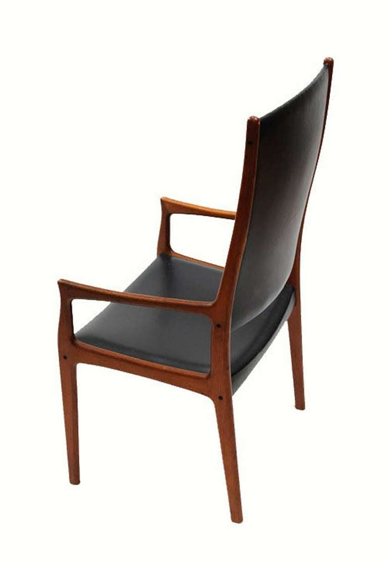 1960 39 s oversized solid teak highback armchair at 1stdibs for Oversized armchair