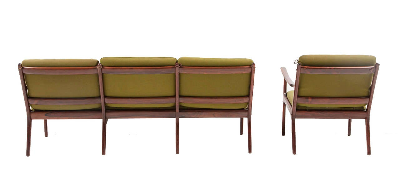 Ole Wanscher Rosewood Sofa and Chair Set 2