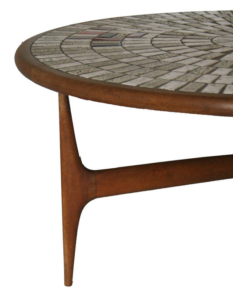 1950 39 S Italian Ceramic Tile Cocktail Table At 1stdibs