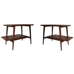 Studio Made 1950's Craftsman Walnut Side Tables