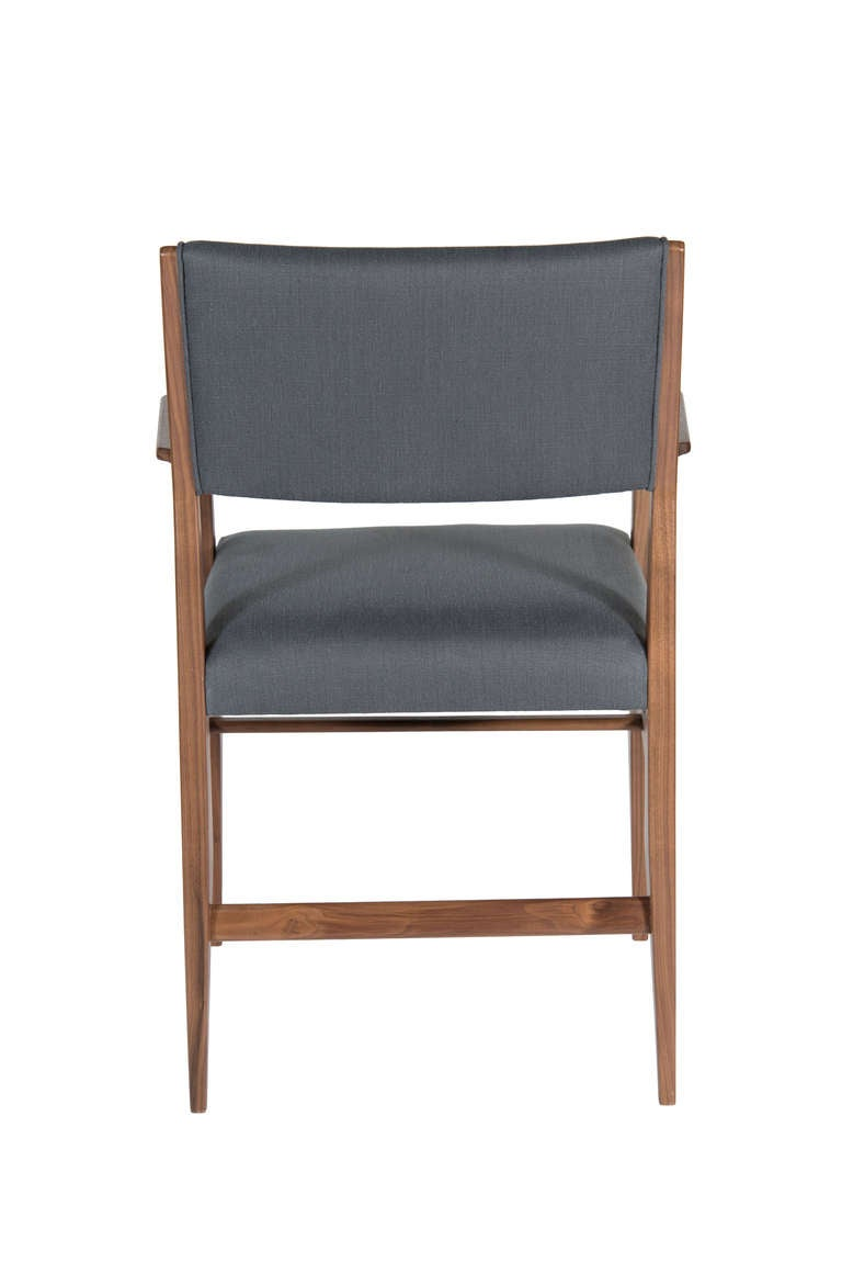 Maze Walnut Arm Dining Chair For Sale At 1stdibs