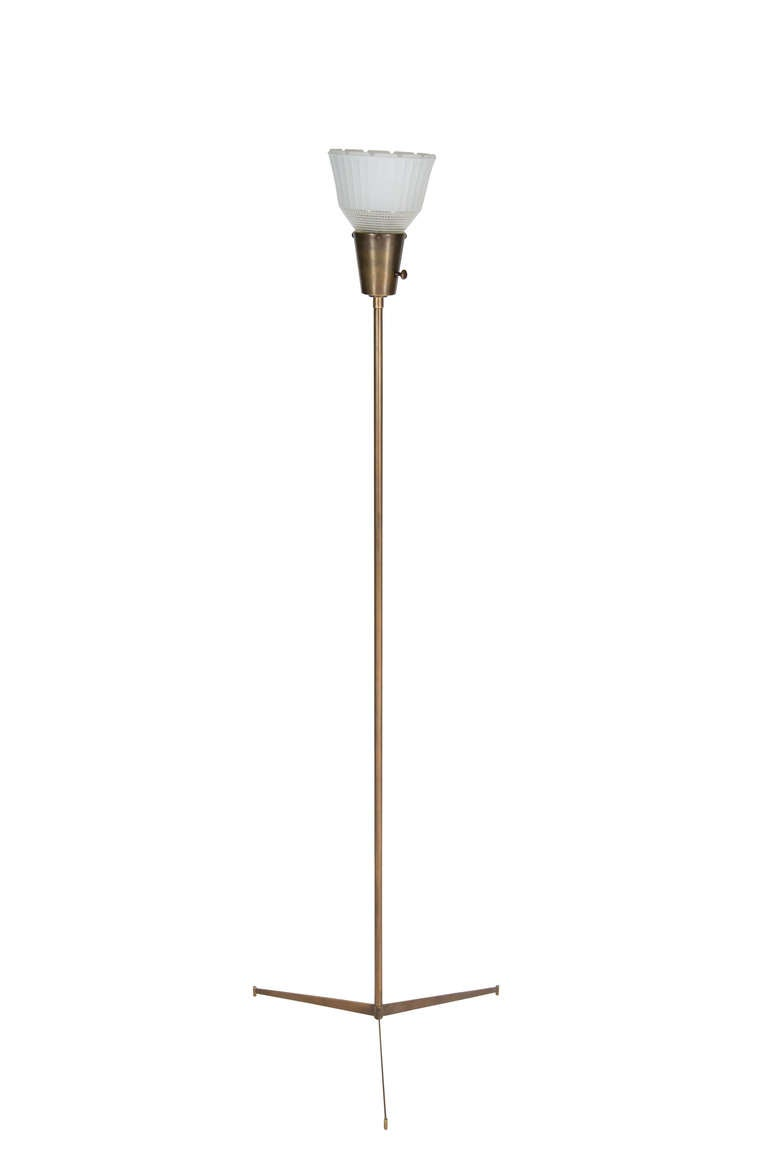 Anders Brass Tripod Floor Lamp For Sale At 1stdibs