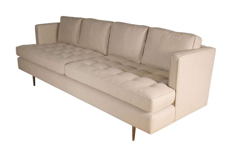 Brown tufted sofa for sale at 1stdibs for Tufted couches for sale