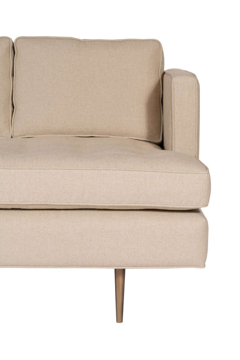 Brown tufted sofa for sale at 1stdibs for Tan couches for sale