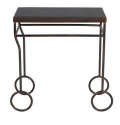 Biron Iron Frame Slate Top Table
