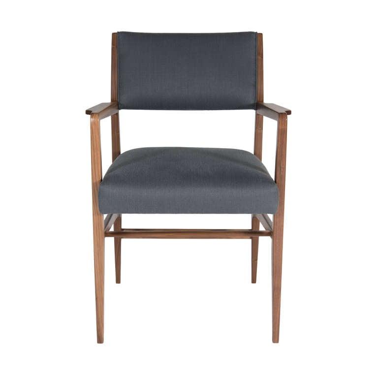 Maze Walnut Arm Dining Chair