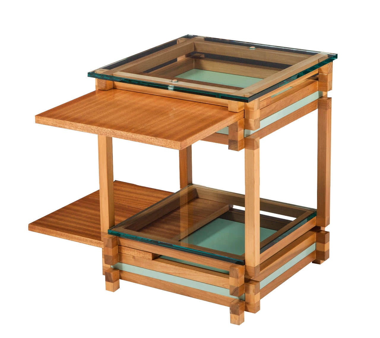 Architectural Glass Top Puzzle Table At 1stdibs