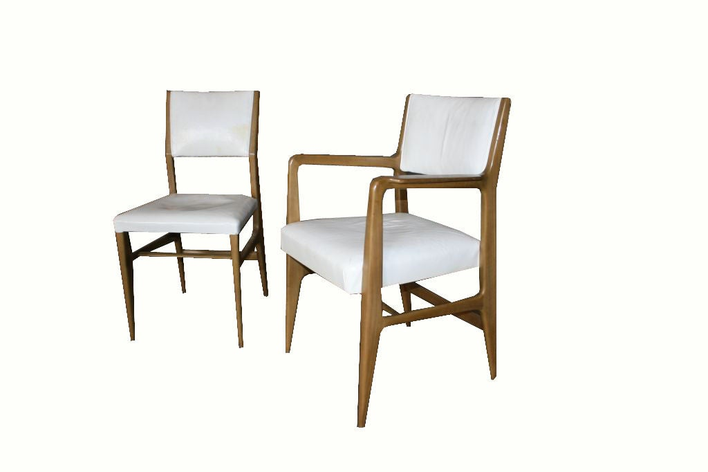 Set of 6 gio ponti for singer and sons walnut dining for Singer dining room set