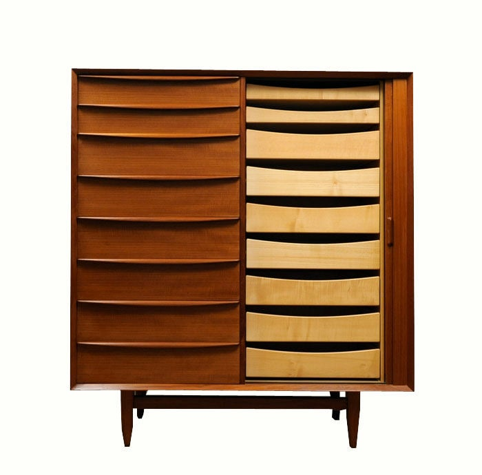 Danish Modern Teak Armoire by Falster Ca. 1960 image 2