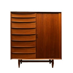 Danish Modern Teak Armoire by Falster Ca. 1960 thumbnail 1