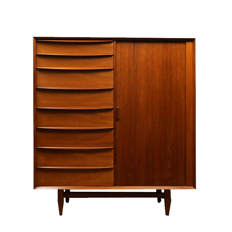 Danish Modern Teak Armoire by Falster Ca. 1960