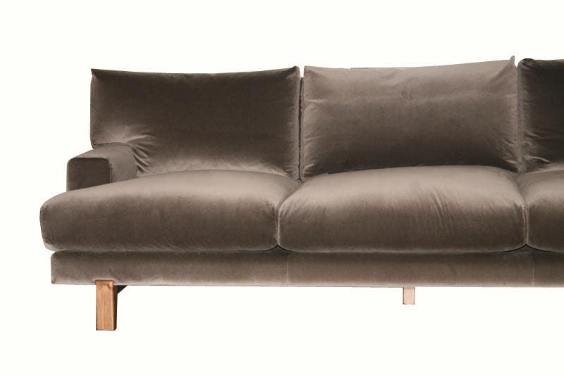 Alexander Walnut Base Sofa 7