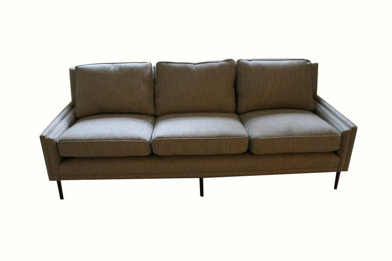 American Allen Stepped Arm Three-Seat Sofa For Sale