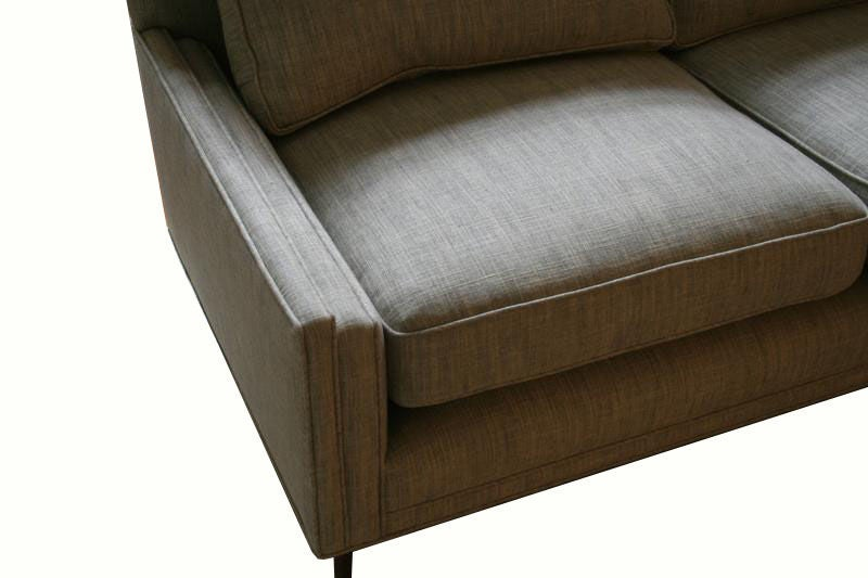 Allen Stepped Arm Three-Seat Sofa In Excellent Condition For Sale In New York, NY