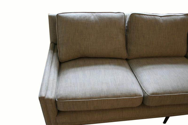 Contemporary Allen Stepped Arm Three-Seat Sofa For Sale