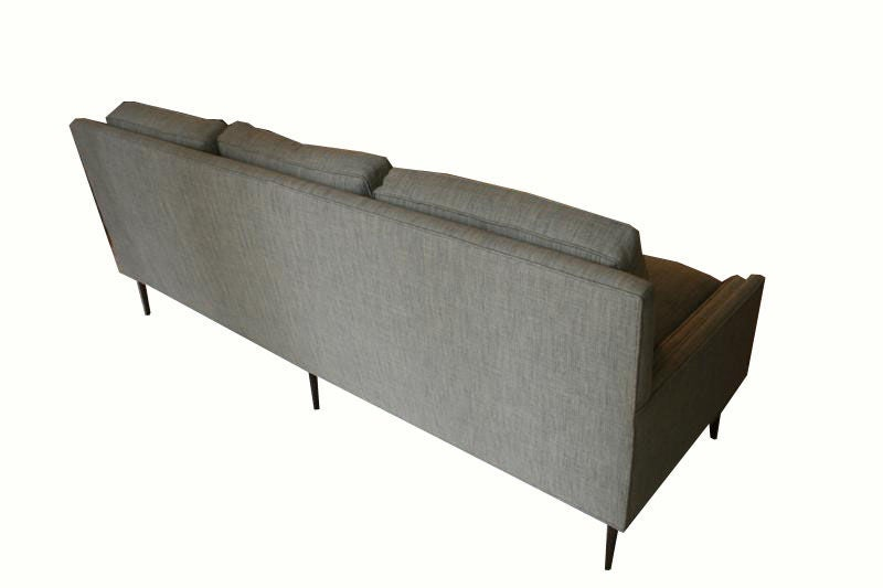 Allen Stepped Arm Three-Seat Sofa For Sale 3