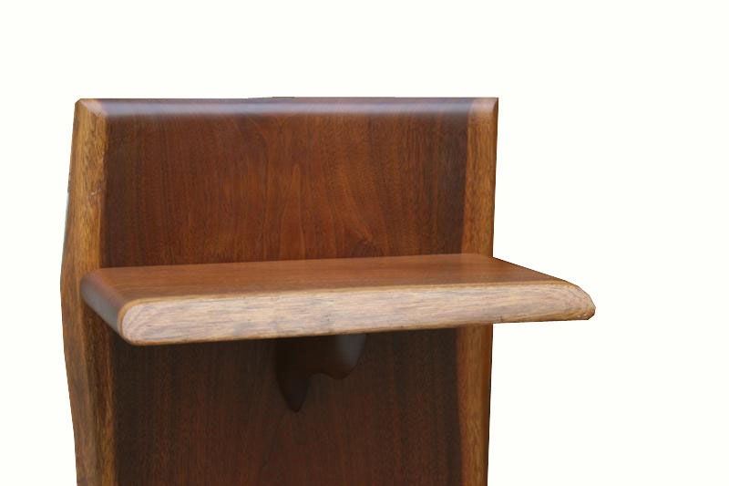 1970 39 s solid walnut craftsman twin bedroom set at 1stdibs