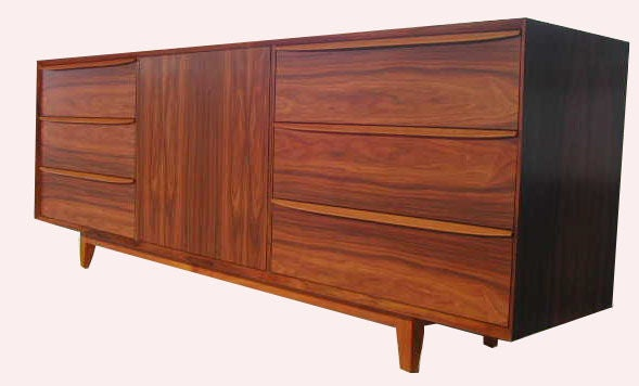 Orlando sculpted handle credenza for sale at 1stdibs for Mid century modern furniture orlando