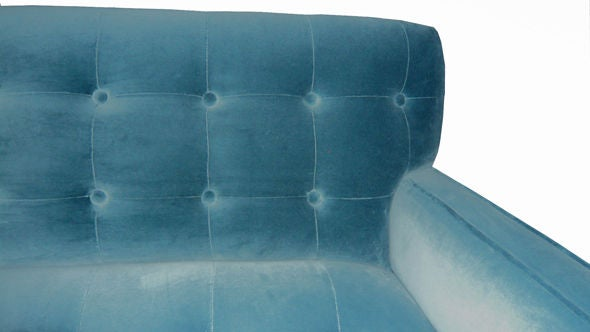 American Winch Button-Tufted Sofa For Sale