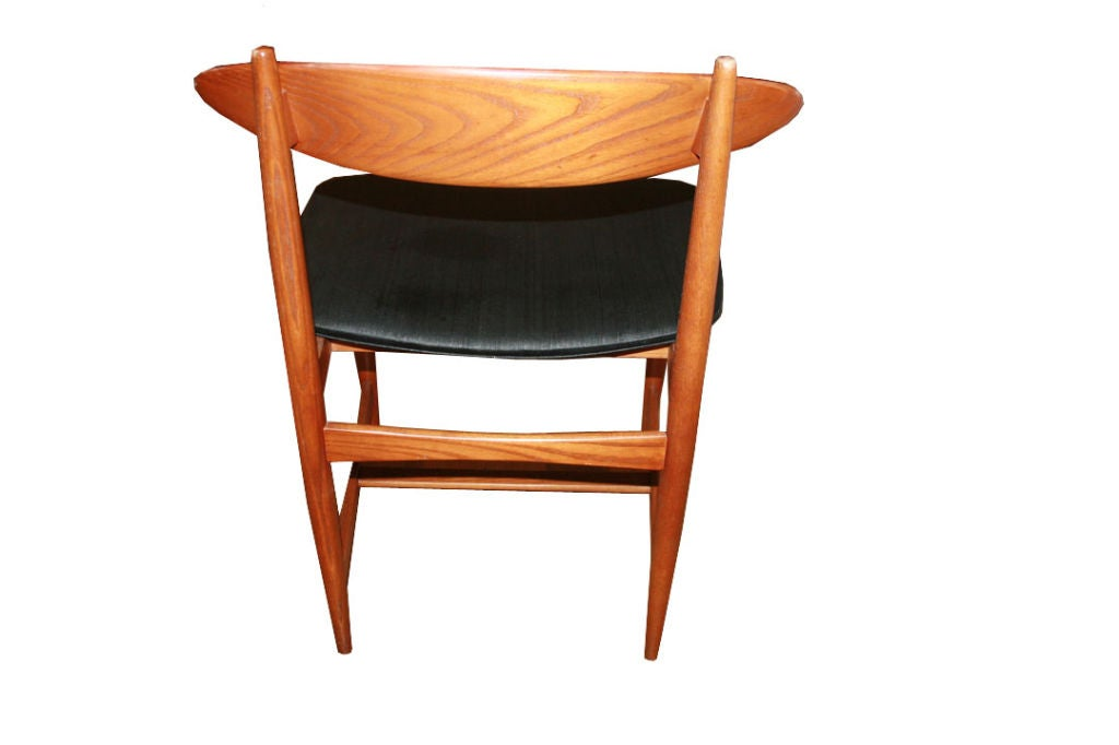 danish modern set of 6 teak dining chairs for sale at 1stdibs