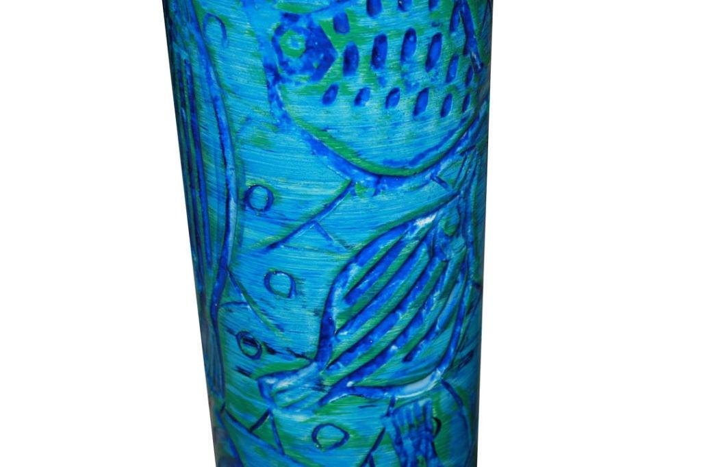 1960s Italian Ceramic Fish Motif Table Lamp 5