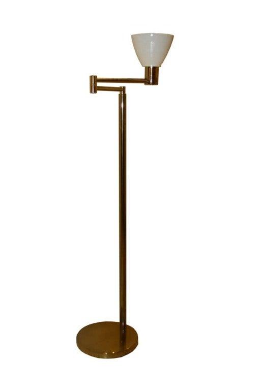 Walter Von Nessen Brass Floor Lamp At 1stdibs