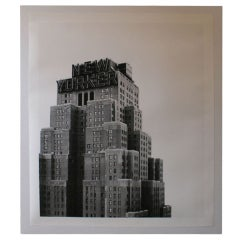 Large-Scale New Yorker Hotel Building B & W Print