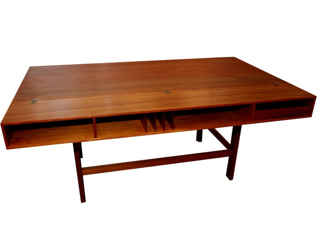 Jens Quistgaard For Loving Flip Top Console Danish Modern Desk 2