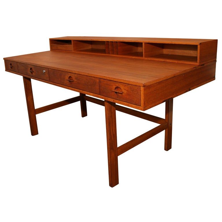 Jens Quistgaard For Loving Flip Top Console Danish Modern Desk 1
